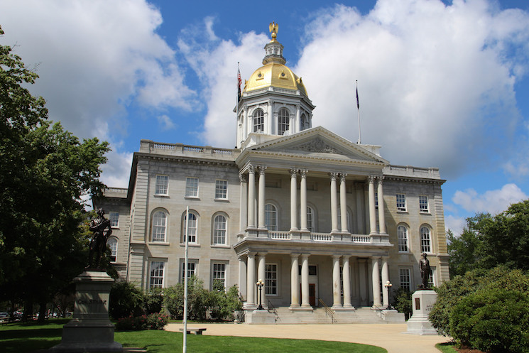 "The New Hampshire State House in Concord, New Hampshire. (photo by Flickr user ""cmh2315fl"")"