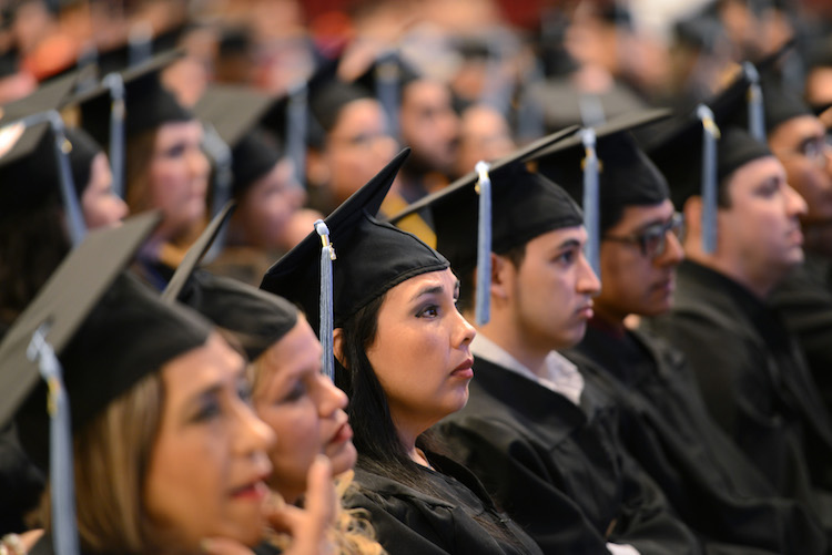 The 2015 graduating class of Texas Southmost College in Brownsville, Texas.