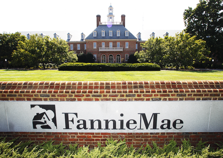 The Fannie Mae headquarters is seen in Washington.