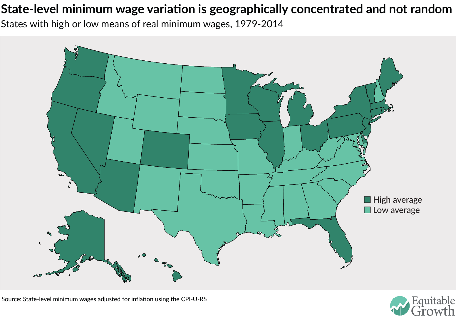 state minimum wage increases are heavily concentrated in different regions of the country