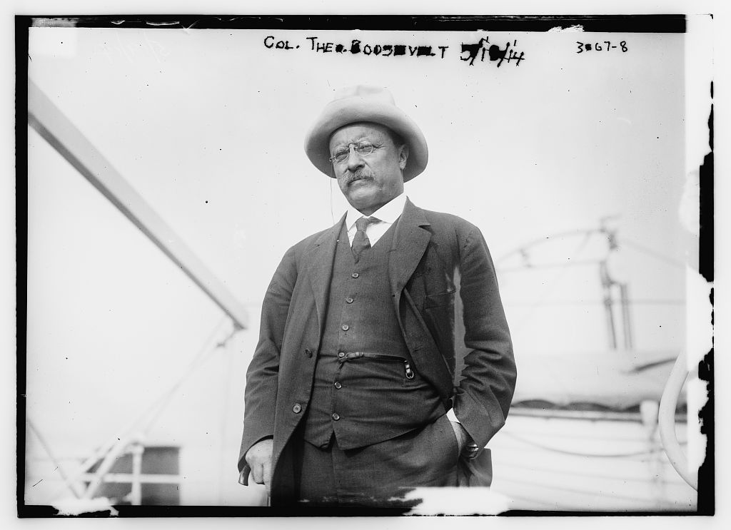 "Photo of President Theodore Roosevelt, the original ""trust-buster."""