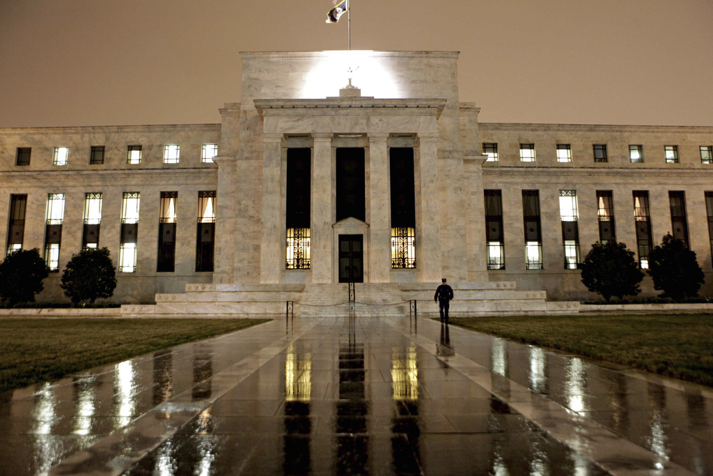 The Federal Reserve Building is seen on Constitution Avenue in Washington, March 2009.