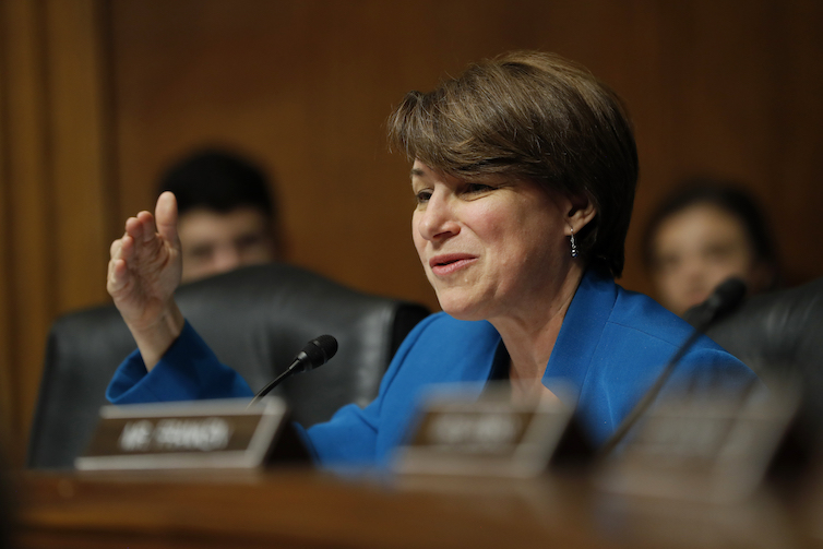 Sen. Amy Klobuchar of Minnesota on Capitol Hill in Washington, D.C.