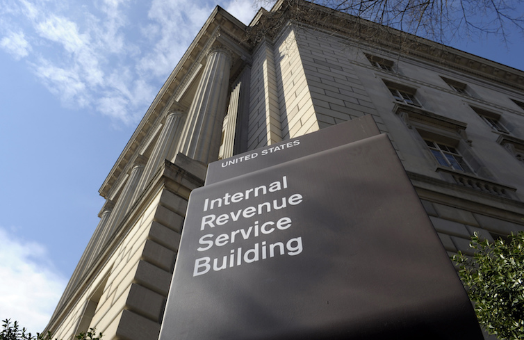 The exterior of the Internal Revenue Service, or IRS, building in Washington.