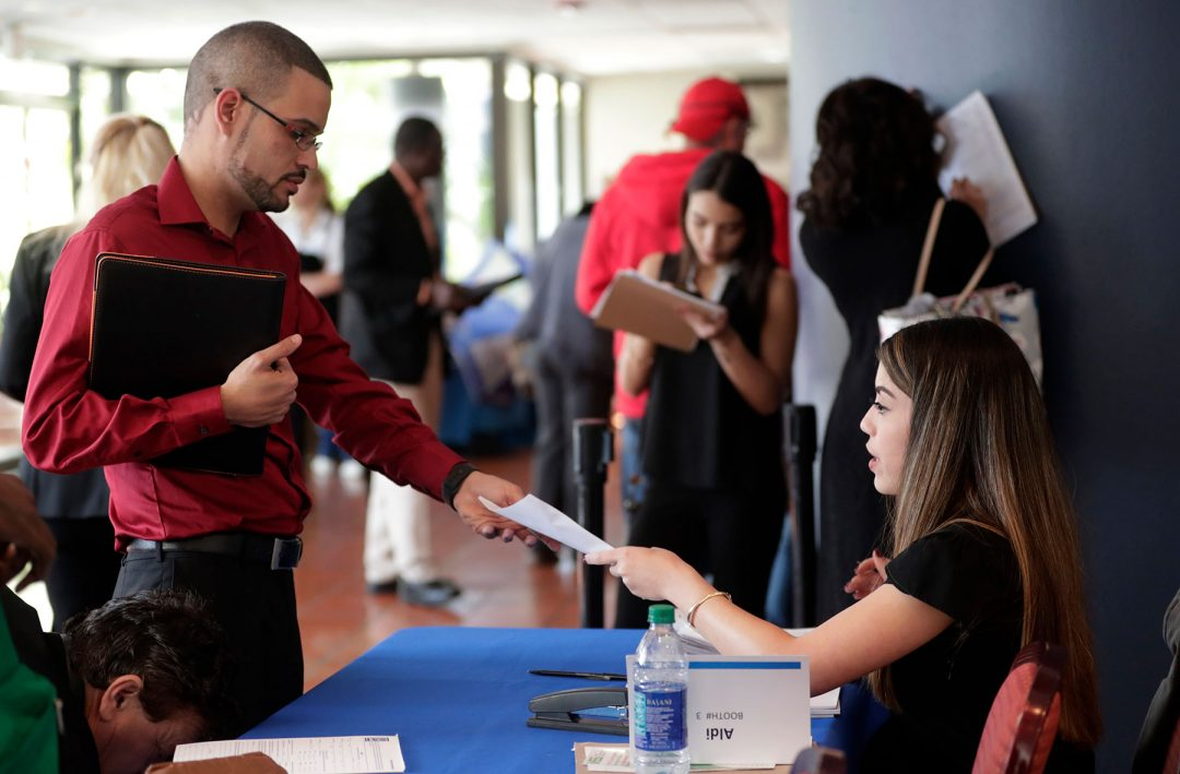 JobNewsUSA job fair in Miami Lakes, Fla.